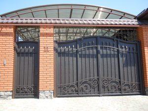 кованые ворота в Николаеве