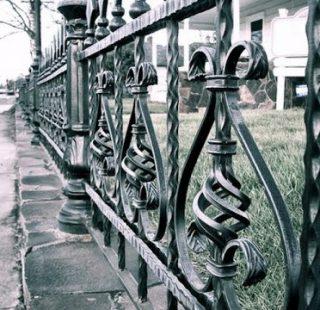 кованый заборчик